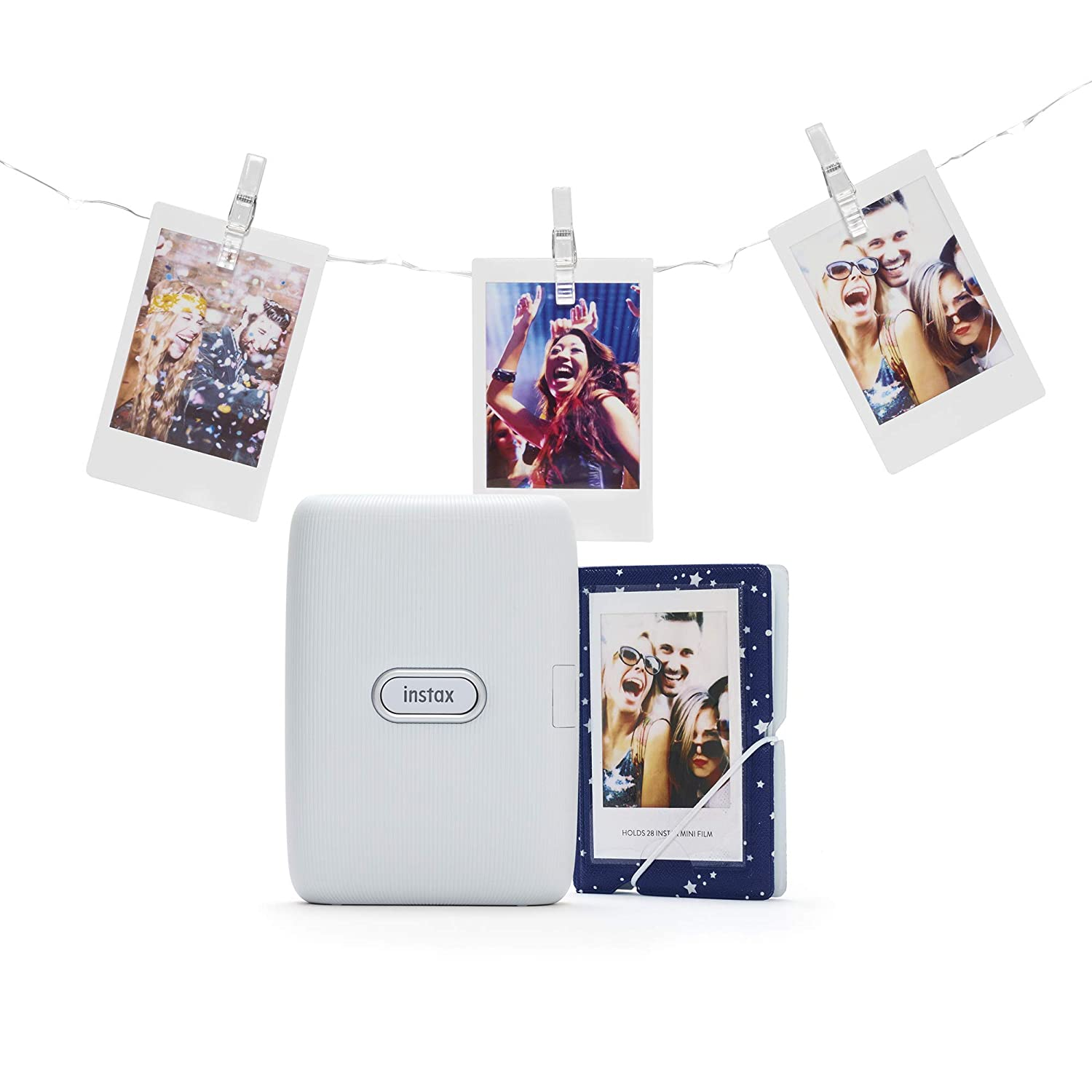 instax Link Smartphone Printer Bundle, Ash Color Blanco ...