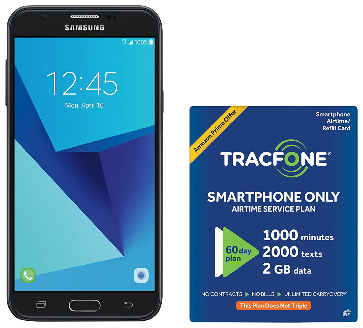Amazon TracFone Samsung Galaxy J7 Sky Pro 4G LTE Prepaid Smartphone with Amazon Exclusive Free $40 Airtime Bundle Cell Phones & Accessories