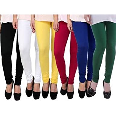 c499896fa000a kalpit Plain Designer Pure 100% Summer Leggings With Different 6 Variety of  Colours (Combo of 6 leggings Wholesale rate) (Multi, Free Size): Amazon.in:  ...