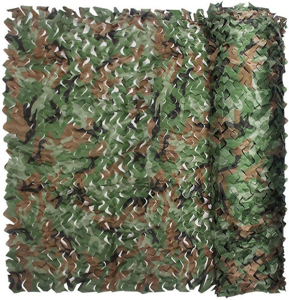 迷彩ジャングル迷彩ネットシェードネット、装飾的なネットワーク緑の山を隠す迷彩キャンプ狩猟射撃子の車のカバーテント、様々なサイズ (Size : 10m×50m)  10m×50m