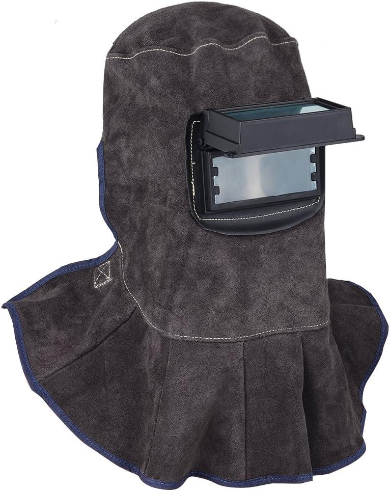 3 in 1 Welding Helmet Face Mask Free - Shipping Leather Welding Hood