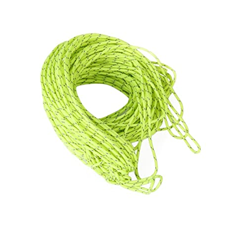 NUOLUX Reflective Cord Tent Cord Guy Rope for C&ing Awning Tent 20M (Green)  sc 1 st  Amazon.com & Amazon.com : NUOLUX Reflective Cord Tent Cord Guy Rope for Camping ...