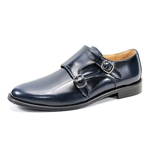 Zapatos para Hombres clásicos Mocasines Hechos a Mano en Italia Pierre Cardin (41, Azul