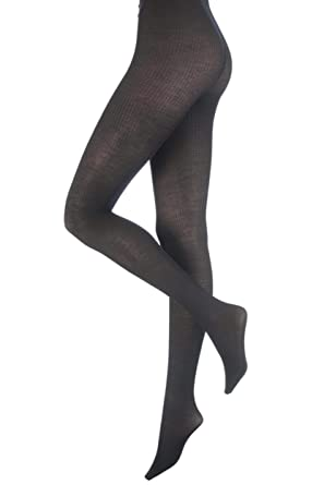 61e3b4f3a9a6f Ladies 1 Pair Trasparenze Dora Rib Wool Tights In 4 Colours - Medium - Dark  Grey