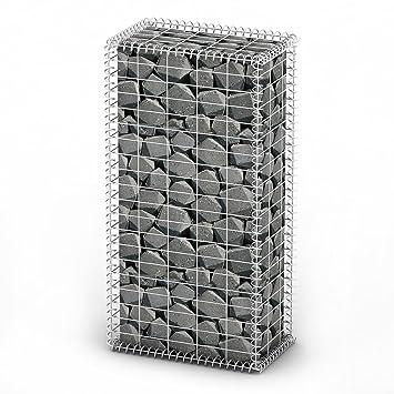 vidaXL Gabion Base pour Mur 100x50x30 cm Clôture de Jardin Panier à ...
