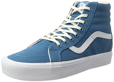 f58f3434a9 Vans Men s Reissue Lite Lace-Up Hi-top Sneakers Turquoise (Canvas  Larkspur True White) 11 UK  Buy Online at Low Prices in India - Amazon.in