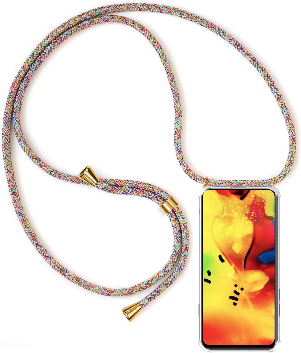 - Oro Rosa Ultrafina Suave TPU Funda de movil con Colgante Anti-rasgu/ños Anti-Choque Moda y Practico XTCASE Carcasa con Cuerda para LG G8s ThinQ Silicona Transparente