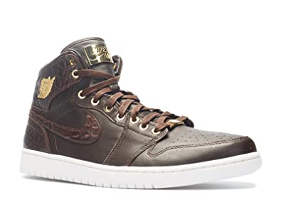 cheap for discount df348 be3ab Nike Air Jordan 1 Pinnacle, Chaussures de Sport Homme, Marron Jaune (Marron