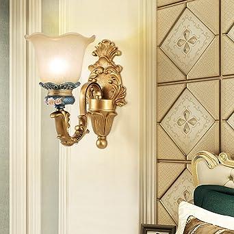 Wandlampe Europäische schlafzimmer wandleuchte retro harz nacht ...
