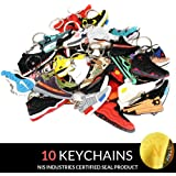 cd3c842dcad59 NIS Industries Mini Sneaker Keychains - Rare Air Packs - Rubber Silicone 2D  Retro Sneakers