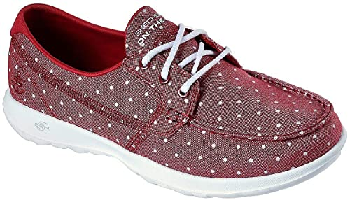 30d3a755415fa Skechers Women's Go Walk Lite-Soleil Boat Shoe: Amazon.co.uk: Shoes & Bags