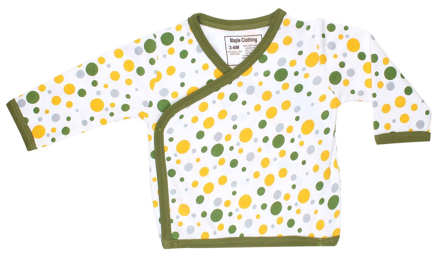 Organic Cotton Baby Kimono Bodysuit GOTS