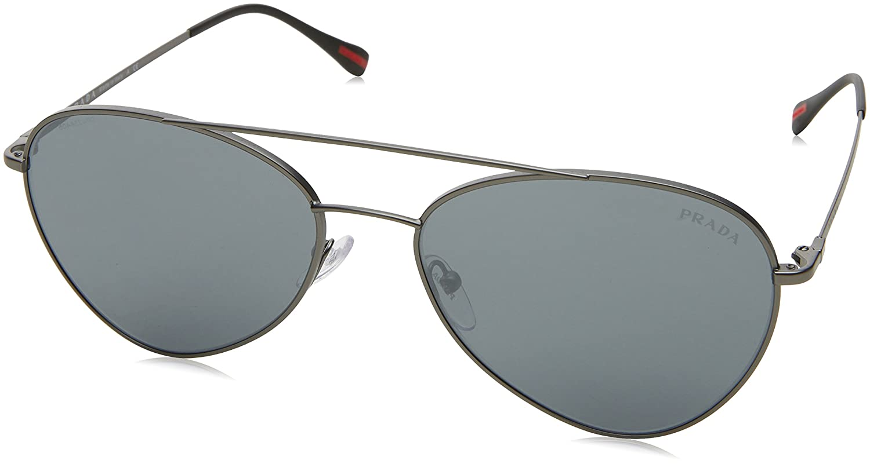 Prada Linea Rossa 0PS 50SS, Gafas de Sol para Hombre, Marrón (Matte Gunmetal), 60