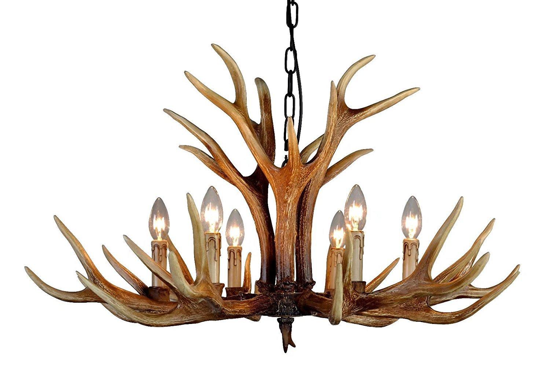 Effort Inc Antlers Vintage Stil Vintage Stil Antlers Harz 6 Licht