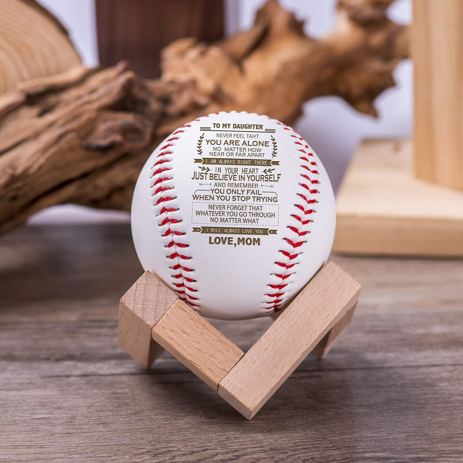 1-Pack WOODme Baseballs Low Impact Safety Balls Competition Grade Youth Personalized Carving Baseballs Recreational Use Baseballs for Indoor Baseball and Outdoor Baseball with Beautiful Box