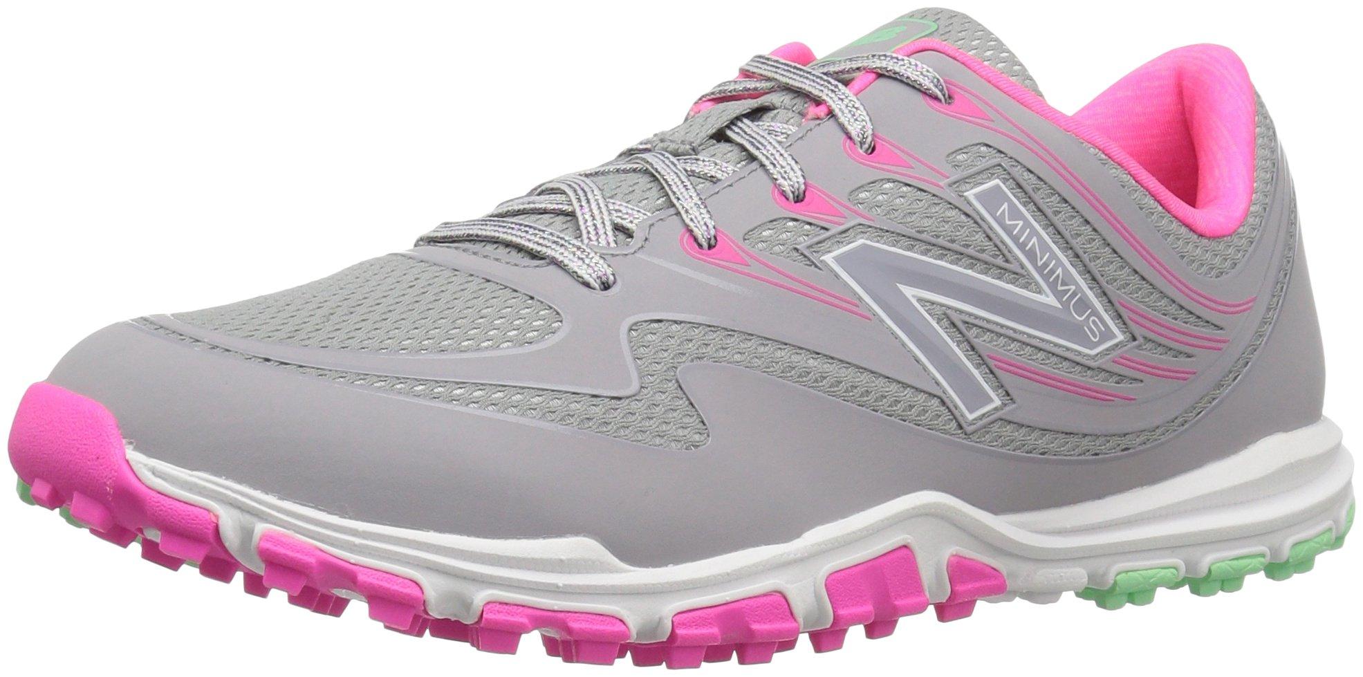 New Balance Women's nbgw1006 Golf Shoe, Grey/Pink, 10 D US