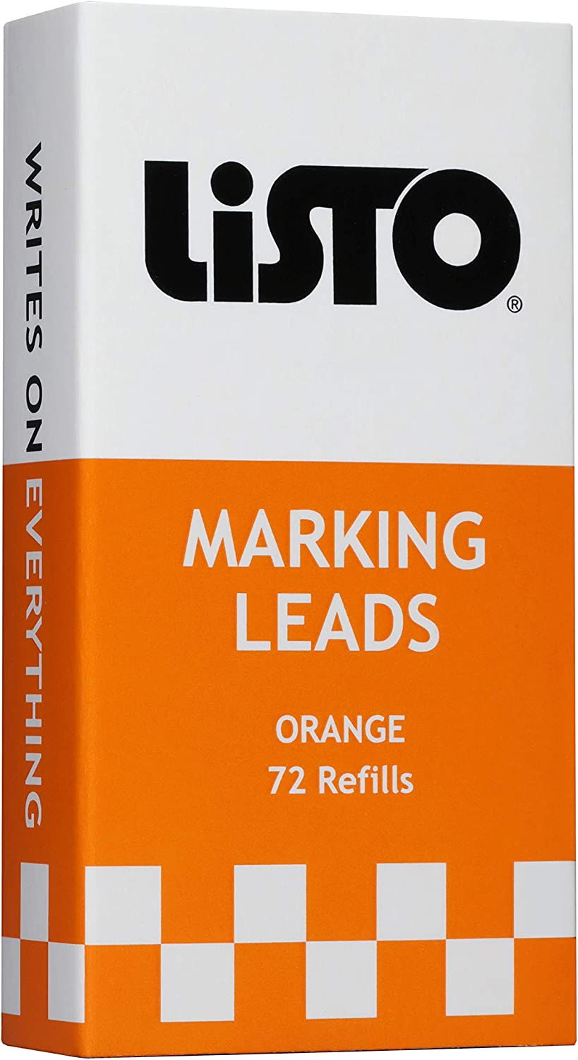 Listo 162 Marking Pencils Refill - ORANGE, Box of 72, Grease Pencils/China Marking Pencils/Wax Pencils : Office Products