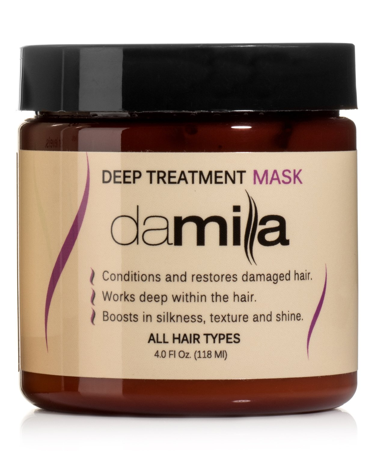 Deep Treatment Mask, Hair Rejuvenating Mask - Hydrolyzed Keratin to Strengthen and Moisturize - Conditions Damaged Hair Treatment by Damila (4 oz)