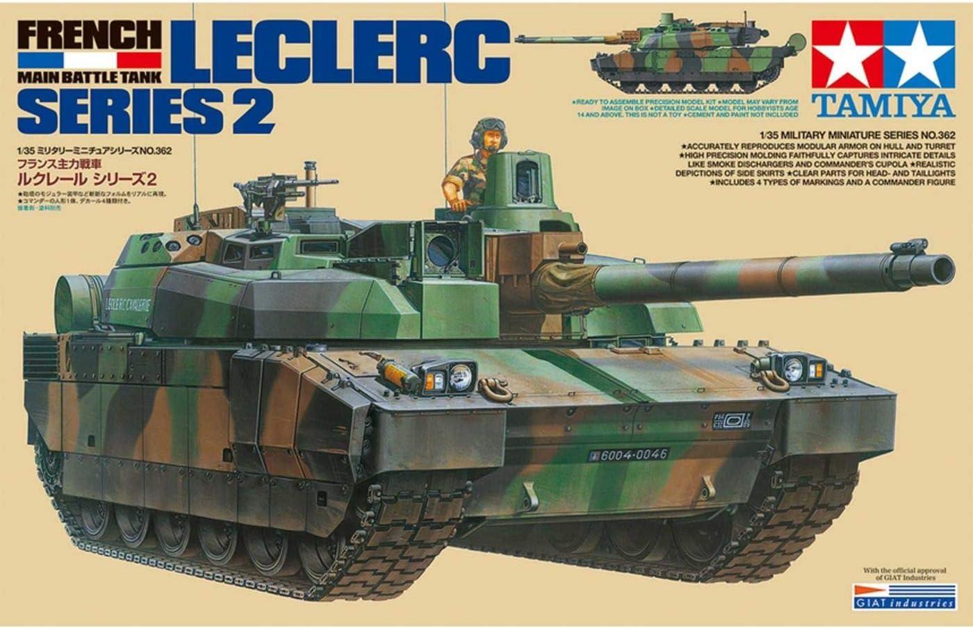 TAMIYA 35362 – 1:35 KPz Leclerc Serie 2, construcción de maquetas, plástico, Hobby, Manualidades, Pegar, maqueta, Modelo, Montaje