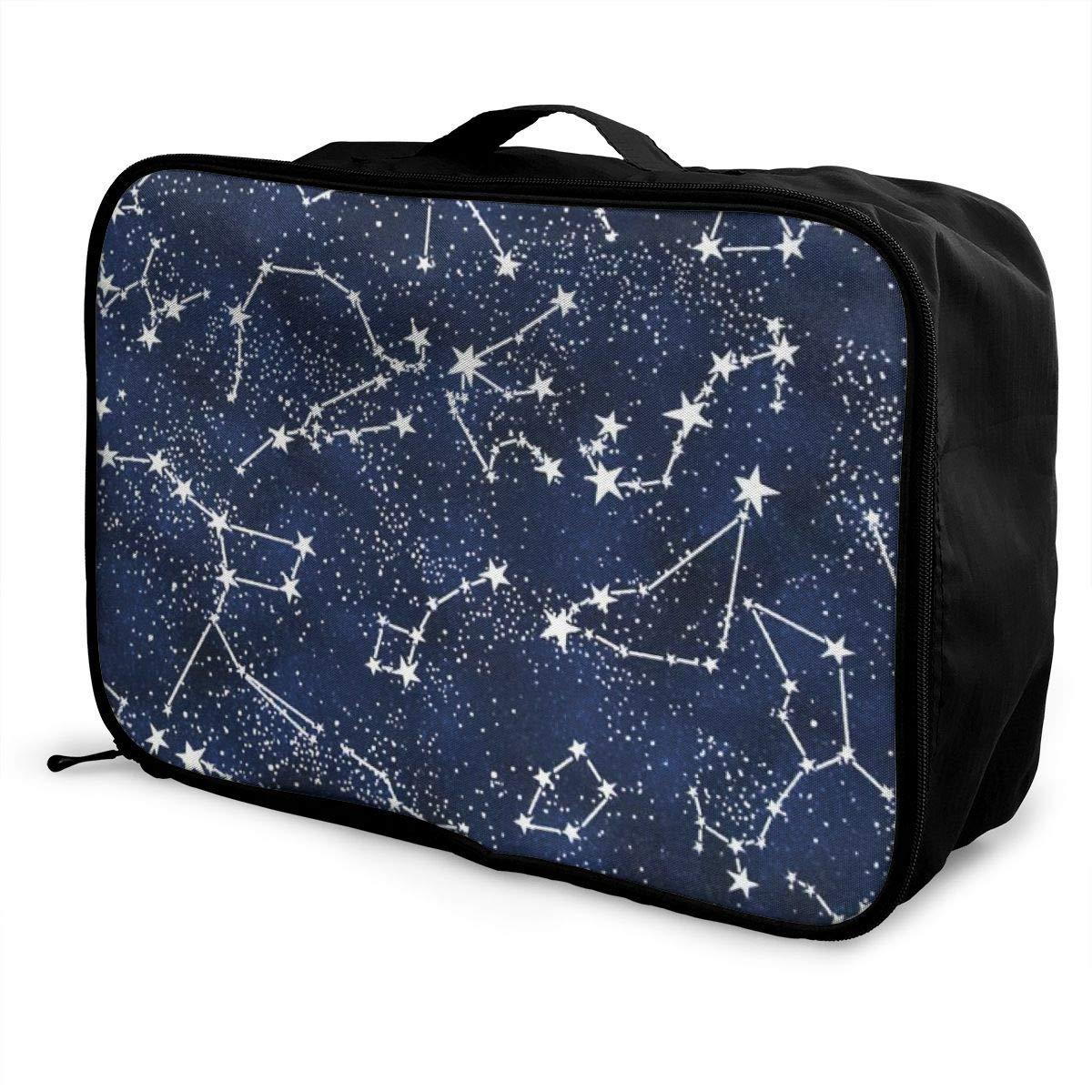 Women /& Men Foldable Travel Duffel Bag Galaxy Starry Night Stars Glow In The Dark Midnight For Luggage Gym Sports