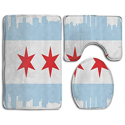 Excellent Amazon Com Flypigs99 City Of Chicago Flag Soft Comfort Ibusinesslaw Wood Chair Design Ideas Ibusinesslaworg