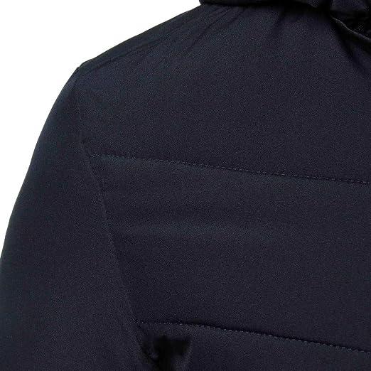 waotier Abrigo de algodón Espesamiento del Invierno del Color ...
