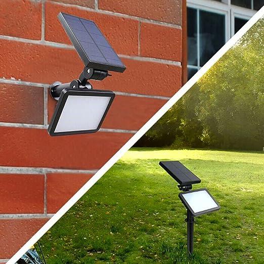 48 LEDs IP65 a prueba de agua reflector solar paisaje luces 2 en 1 al aire