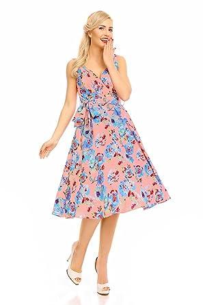 2c75e9ab4e64 Looking Glam Retro Vintage 1950s Swing Dress  Amazon.co.uk  Clothing