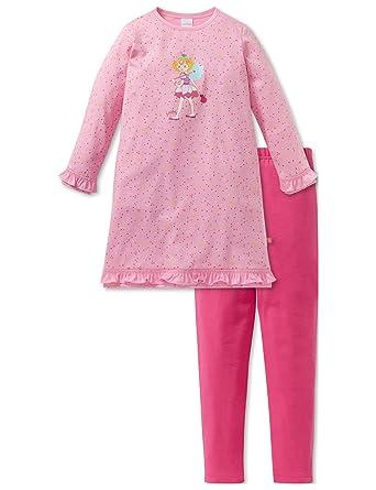 1124eccf1699fd Schiesser Mädchen Zweiteiliger Schlafanzug Prinzessin Lillifee Md Anzug Lang
