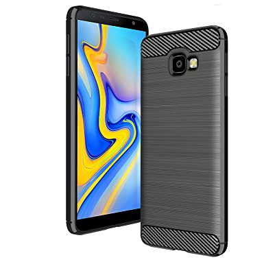 best service 78862 8c550 AIFIVE Samsung Galaxy J4 Plus 2018 Case, Shock Absorption Cover Soft TPU  Anti Scratch Carbon Fiber Case for Samsung Galaxy J4 Plus 2018 (Black)