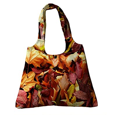 395941697d3 Amazon.com  Custom Fallen Leaves in Autumn Canvas Shoulder Bags Handbags  Tote Bags Shopping Bag  Shoes