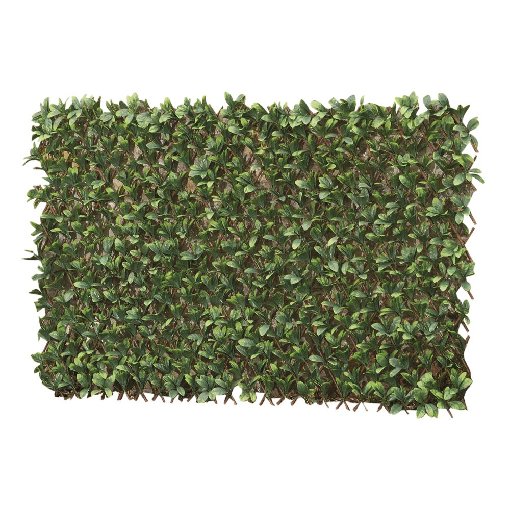 Artificial Evergreen Laurel Leaf Hedge Trellis 1 X 2m Expandable Privacy Screening Panel For Gardens Balcony And Terraces