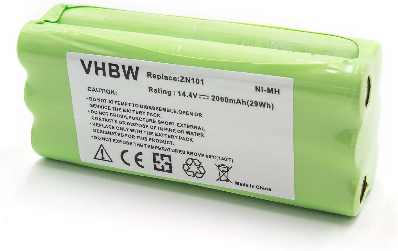 vhbw NiMH batería 2000mAh (14.4V) para robot limpiasuelos robot ...