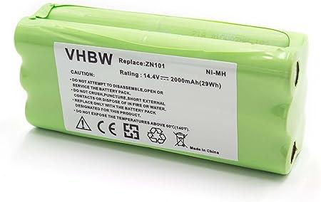 vhbw NiMH batería 2000mAh (14.4V) para robot limpiasuelos robot autónomo de limpieza Ecovacs Dibea K6, L6, ZN101: Amazon.es: Hogar