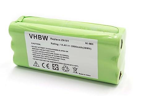 vhbw NiMH batería 2000mAh (14.4V) para robot limpiasuelos robot autónomo de limpieza Ecovacs