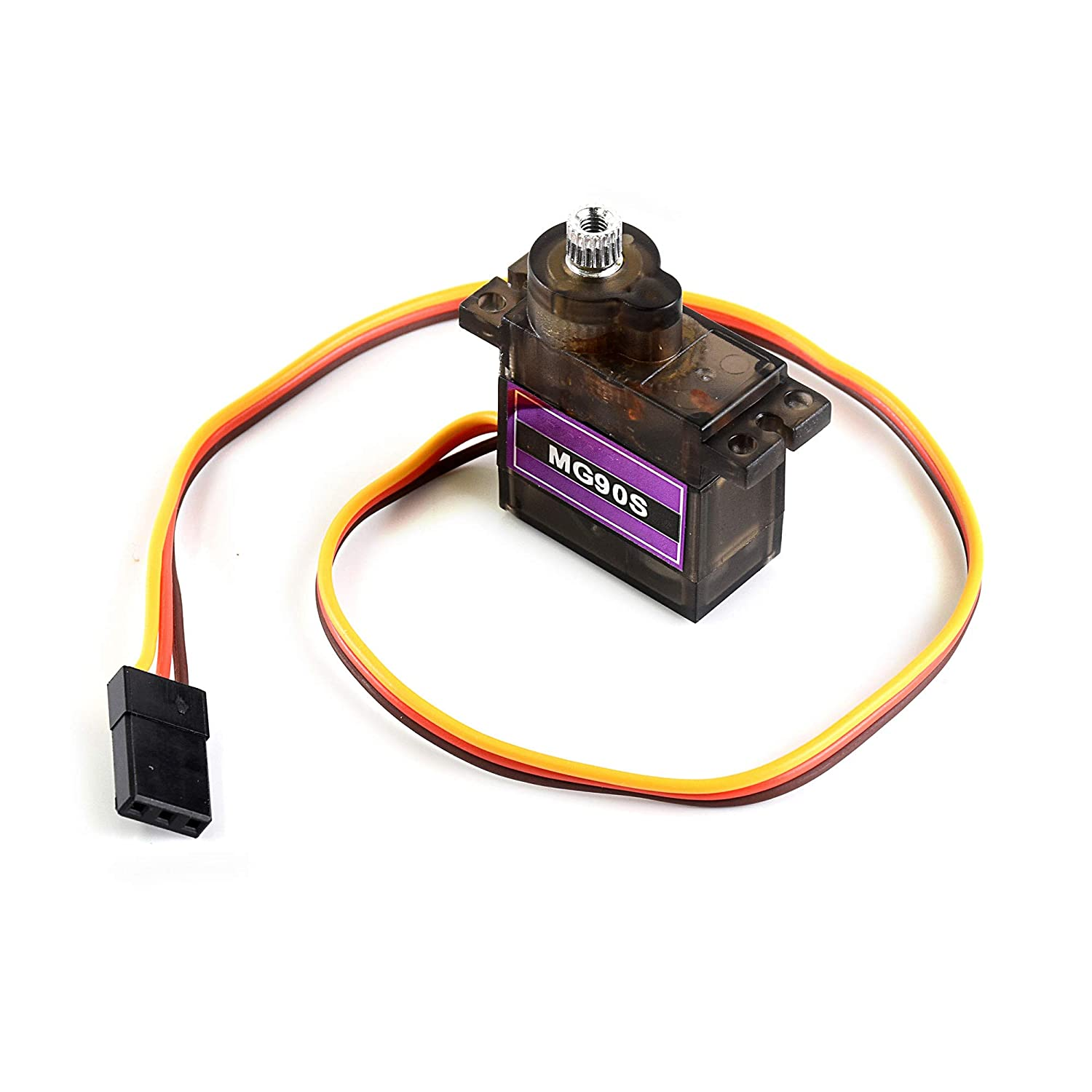 Metal-Geared Servo Motor 6V . 4.8V Can Rotate Approximately 180 Degrees 2.8kg//cm Speed of 0.11s// 6V 0.09s// 4.8V Used to Add Power to Robot MG90S Micro Servo Motor Torque of 2.0kg//cm