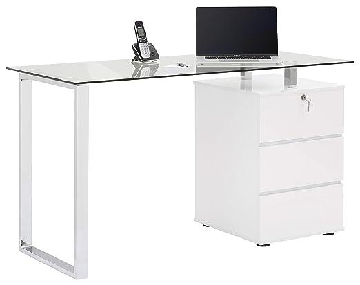 MAJA - Mesa de Escritorio y Ordenador (Metal, tamaño único ...