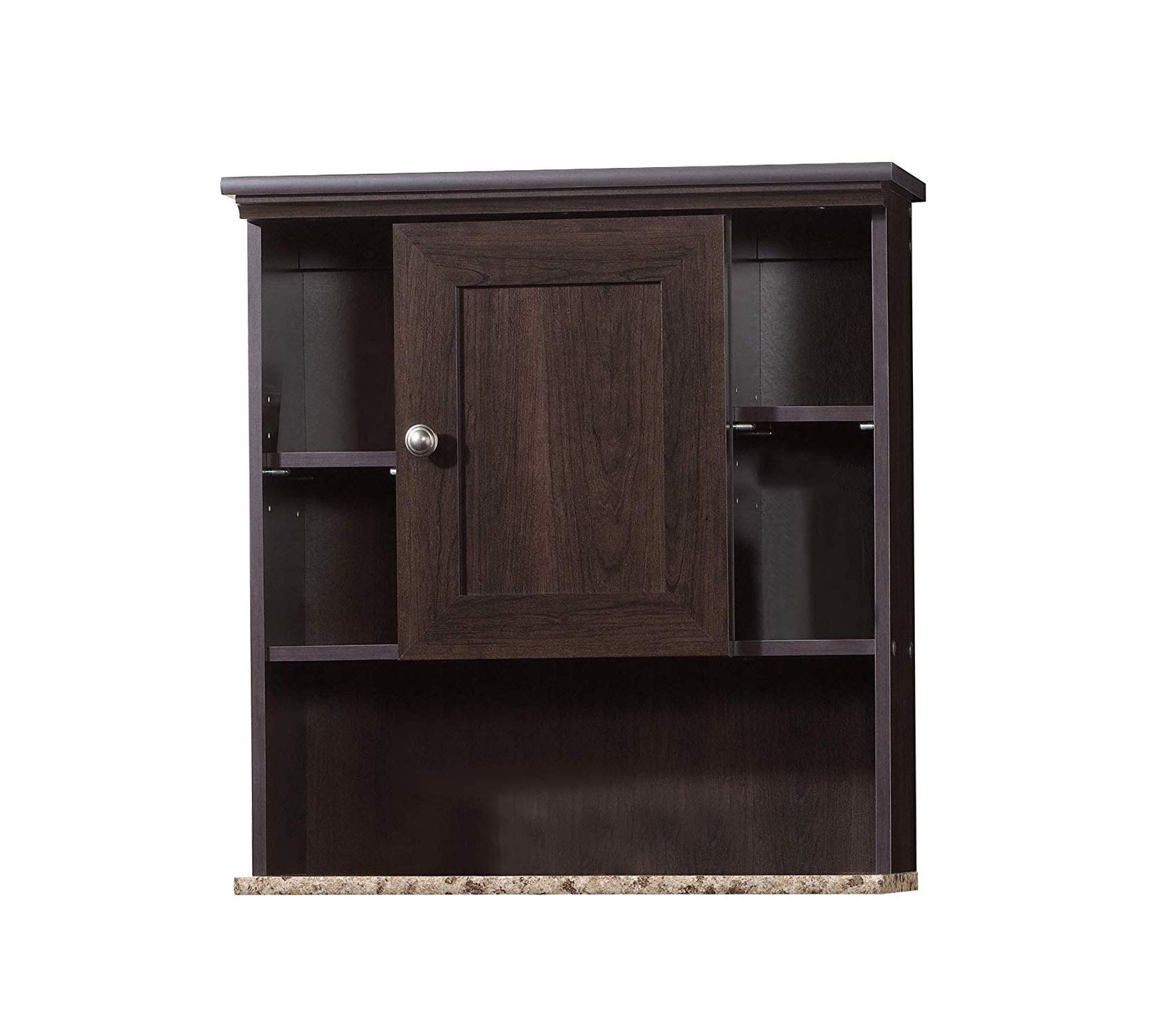 Sаudеr Premium Peppercorn Wall Cabinet L: 23.31'' x W: 7.56'' x H: 24.57'' Cinnamon Cherry Storage