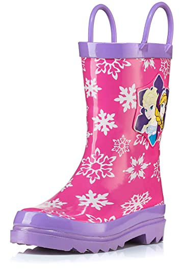 21015092bae Disney Frozen Girls Anna and Elsa Pink Rain Boots - Different Sizes