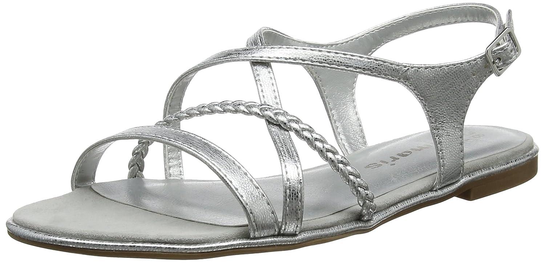 Tamaris 28129 Sandali con Cinturino alla Caviglia Donna Argento
