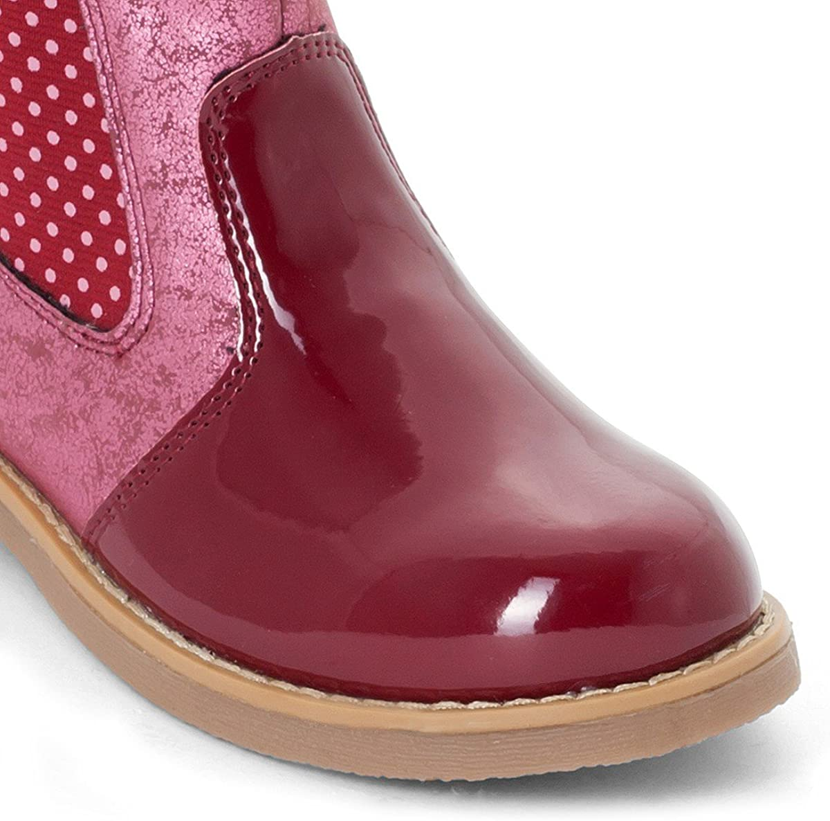 La Redoute Collections Big Girls Leather Ankle Boots Red Size 26