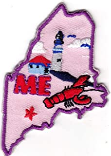 "/""VERMONT GIRL/"" Iron On Patch State Shape Northeast"