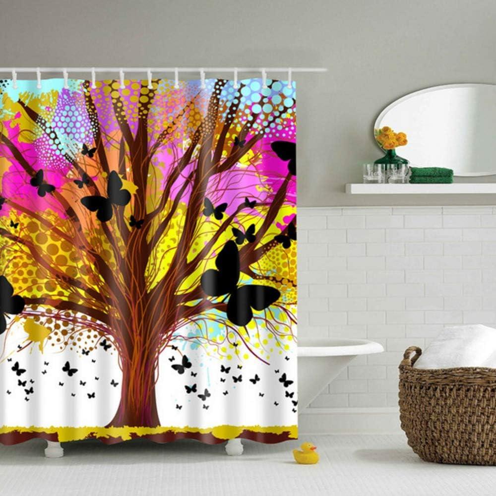 xuewu Patrón de árbol Abstracto Accesorios de mamparas de baño ...