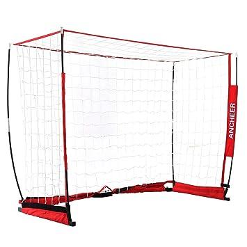 Hiriyt - Red portátil para balón de fútbol (Marco arqueado, 12 x 6 ...