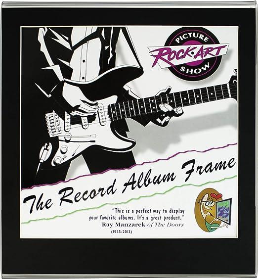 33LP RECORD ALBUM COVER METAL FRAMES UV CLEAR PLEXI 12