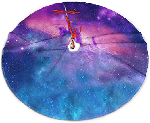 WU4FAAR - Falda para árbol de Navidad, diseño de Galaxia, Tela ...