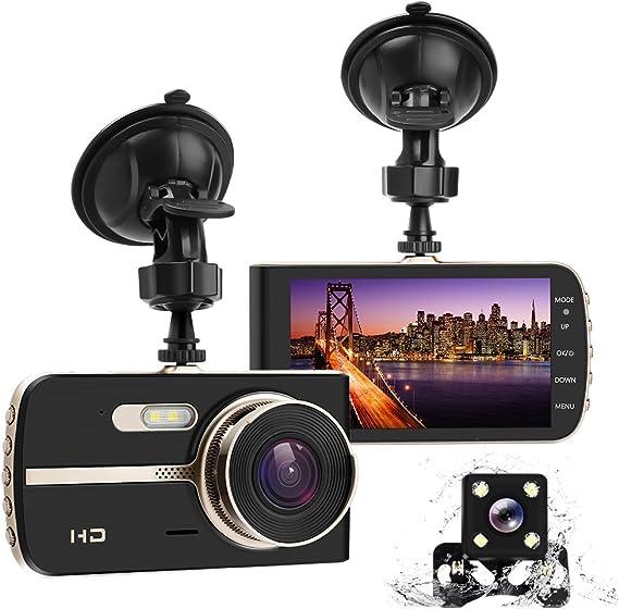 Dual Lens GPS Camera Rear Car DVR Dash Video Recorder G-Sensor w// GPS Trader BT