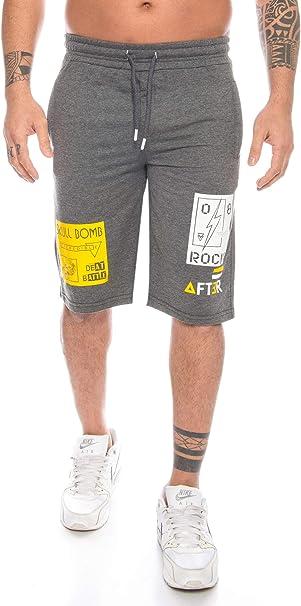 Crazy - Pantalones cortos de deporte para hombre, algodón, con ...