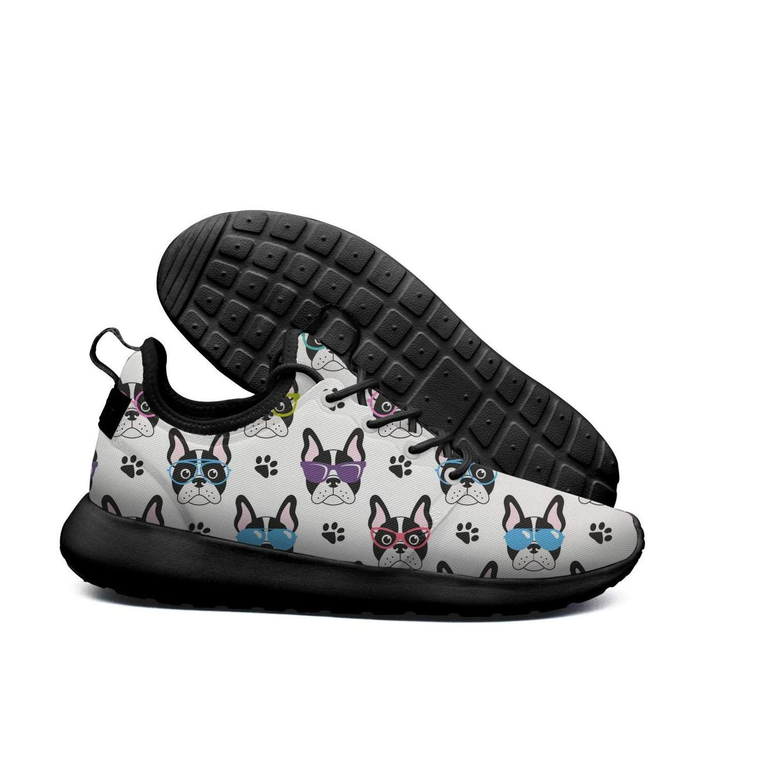 AKDJDS french bulldogs with glasses white Running Shoe Sneakers Womens Shoes