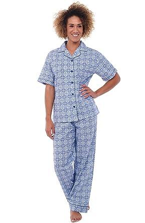 4e0878b17 Alexander Del Rossa Womens Woven Cotton Pajama Set with Pants